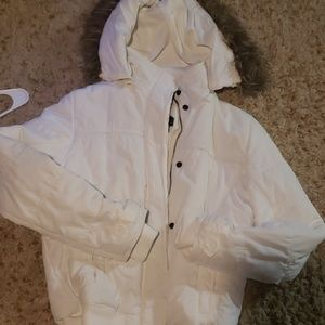 white winter jacket